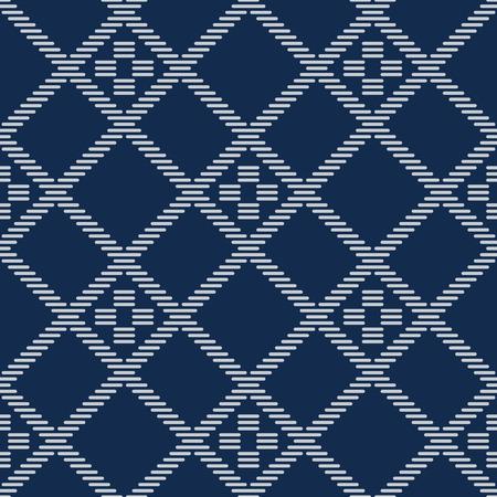 Kogin embroidery pattern design.