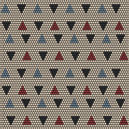 Bead ornament pattern design. Vettoriali