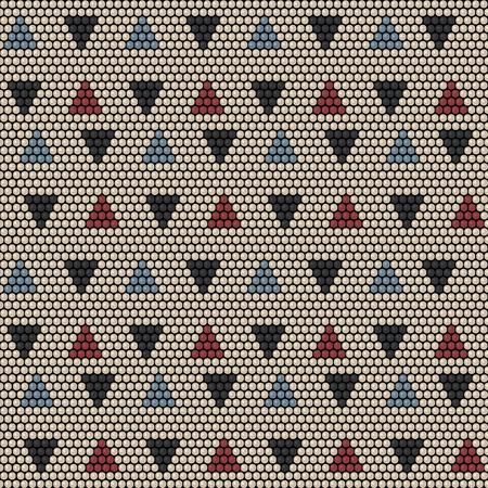 Bead ornament pattern design. Illustration