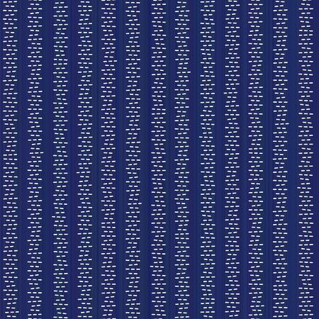 Simple japanese quilling. Striped sashiko pattern. Abstract seamless backdrop. Needlework texture. Çizim