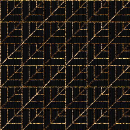 Seamless pattern based on Japanese sashiko, stylized leaves scratched texture. 写真素材 - 95689054