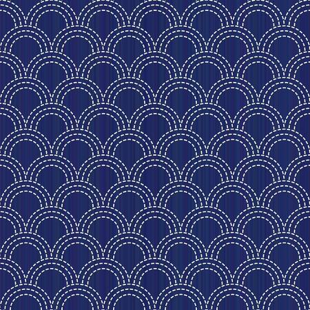 Kimono pattern. Sashiko. Abstract seamless texture.