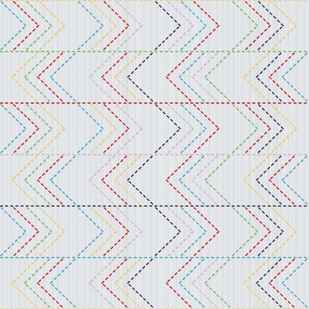 着物模様。矢印をモチーフにしたサシコの質感。抽象的なシームレスなテクスチャ。古典的な日本のクイリング。ニードルワークのモチーフまたはテクスチャ。手仕事、装飾、または生地の印刷用 写真素材 - 96671124