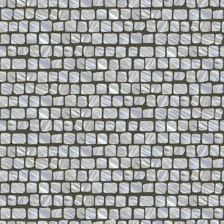 Squared Street Cobblestone Pavement. Old fashioned. Abstract seamless pattern. Street paving stone texture useful as background. Stone roadway.
