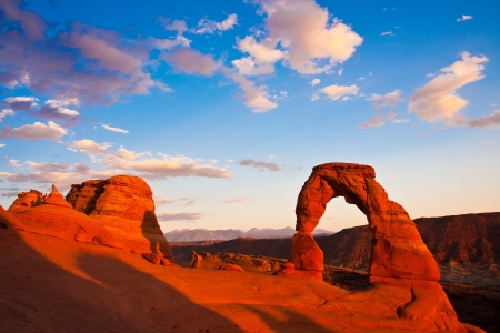 arches national park: Dedicate Arch Sunset in Arches National Park, Utah