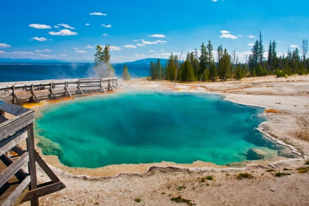 hydrology: The Blue Spring Pool in Yellowstone National Park