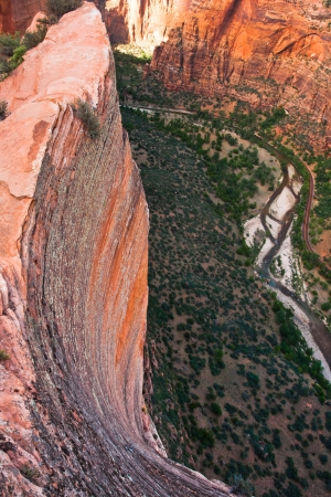 zion: Red Rock Cliff in Zion National Park,Utah,USA