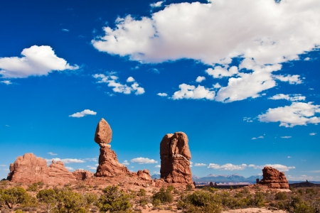 Balanced Rock in Arches National Park,Utah photo