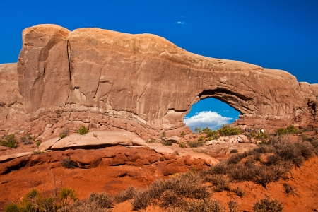 arches national park: Window Arch in Arches National Park,Utah