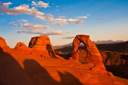 Dedicate Arch Sunset in Arches National Park, Utah photo