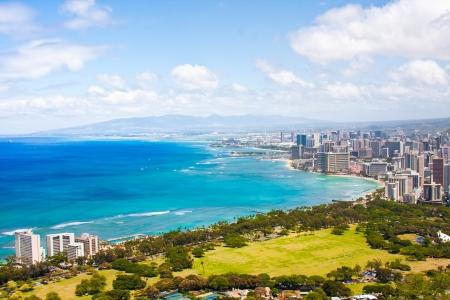 Beautiful Skyline of Oahu,Hawaii 版權商用圖片