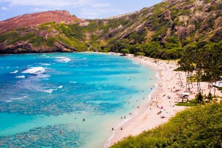 Schnorcheln Bay in Oahu, Hawaii Standard-Bild - 19195117