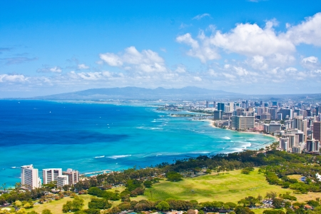 Schöne Skyline von Oahu, Hawaii Standard-Bild - 19195147