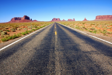 desert highway: The Classic Western Landscape in Monument Valley ,Utah