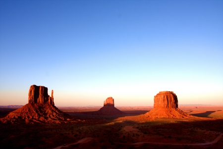 western united states: The Classic Western Landscape in Monument Valley ,Utah