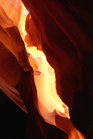 lightbeam: Amazing Light Effect in Antelope Canyon, Arizona ,USA