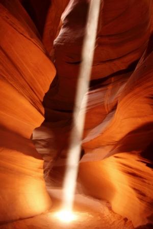 lightbeam: Amazing Light Beam in Antelope Canyon, Arizona ,USA