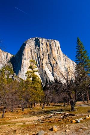 granite park: El Captain Rock in Yosemite National Park,California Stock Photo