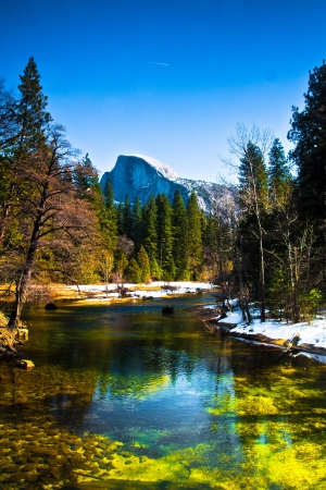 half dome: Half Dome Rock , the Landmark of Yosemite National Park,California