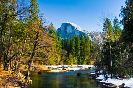 dome rock: Half Dome Rock , the Landmark of Yosemite National Park,California