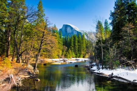 Half Dome Rock , the Landmark of Yosemite National Park,California 版權商用圖片 - 19194462
