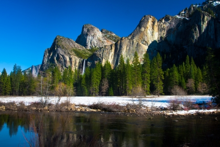 Bridalveil Waterfalls in Yosemite National Park,California photo