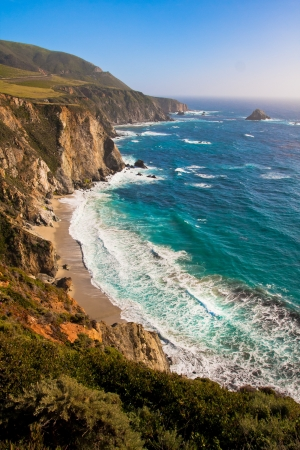Beautiful Coastline in Big Sur,California  Stock Photo