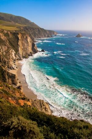 Beautiful Coastline in Big Sur,California 版權商用圖片 - 19194588