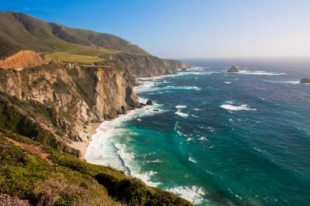 Beautiful Coastline in Big Sur,California  版權商用圖片
