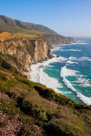Beautiful Coastline in Big Sur,California 版權商用圖片 - 19194536