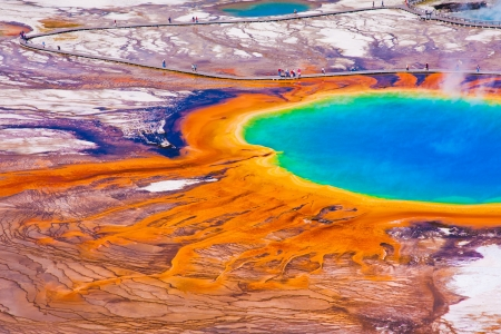 The World Famous Grand Prismatic Spring im Yellowstone National Park Standard-Bild - 20138766