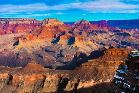 The Beautiful Landscape of Grand Canyon National Park, Arizona Stock Photo