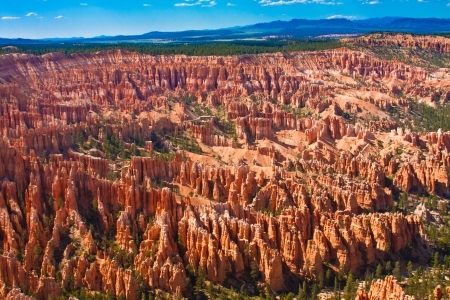 Amphitheater of Hoodoos from Inspiration Point , Bryce Canyon National Park, Utah, USA