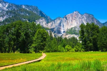 granite park: Yosemite Falls in Yosemite National Park,California