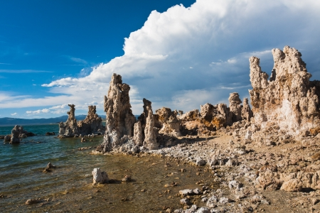 Tufa Formation in Mono Lake, California photo