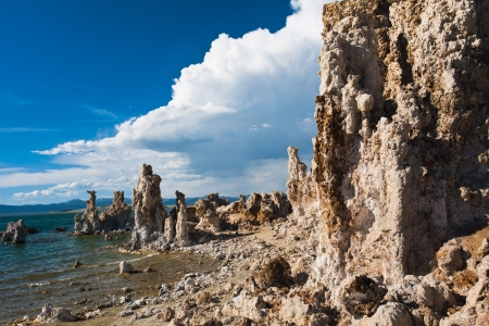 Tufa Formation in Mono Lake, Kalifornien Standard-Bild - 20138925