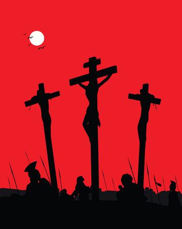 Jesus Christ - Crucifixion. Vector Illustration. Vector