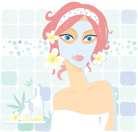 Wellness � cosmetics. Vector Illustration. Vector