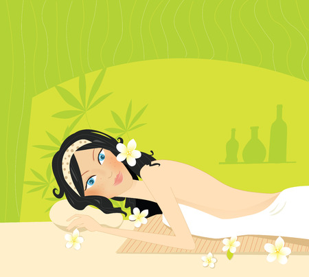 Wellness - relaxation. Vector Illustration. Stock Vector - 4577517