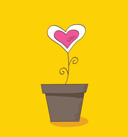 dating and romance: Fiore dell'amore. Bellissimo fiore simbolo dell'amore romantico dell'amore. Illustrazione Vettoriale.
