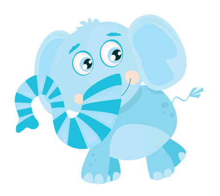 Vector Elephant. Funny jungle animal. Vector Illustration. Vector