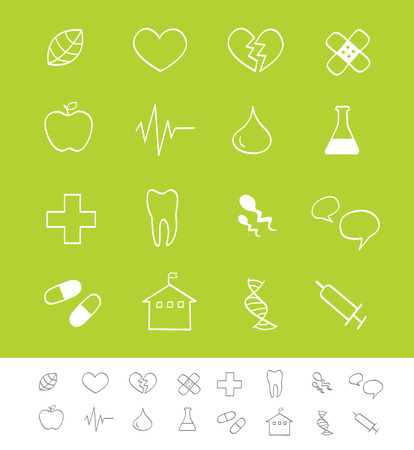 Medical & healthcare icons. Vector pack for magazines and webpages. Including Medicine icons. Vector