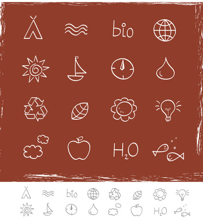 antipollution: Nature & environment icons. Vector pack for magazines and webpages. See similar series in my portfolio!
