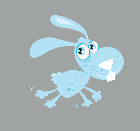 Cute rabbit. Running rabbit. Vector Illustration Vector