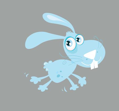 cute rabbit: Lindo conejo. Correr conejo. Ilustraciones Vectoriales Vectores