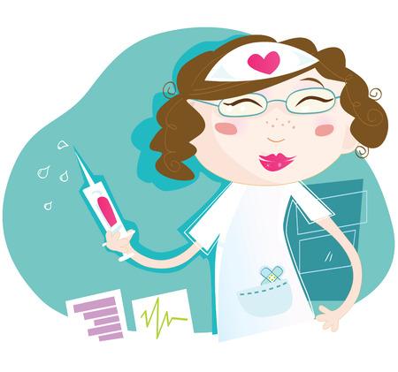 Sexy Krankenschwester. Sexy Krankenschwester jeden Patienten heilen! Kunst Vektor Illustration. Siehe �hnliche Bilder in meinem Portfolio! Illustration