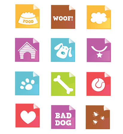Dog icons – VECTOR. Dog iconset for dog shops, internet or magazines. Vector – easy to resize. Stock Vector - 5156823