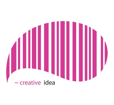 ean: Creative idea. Creative EAN pictogram. Vector Illustration.