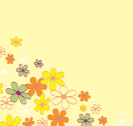 Retro flower background texture. Retro flower design. Vector Illustration | easy to resize and change colors. Vector