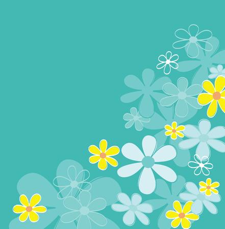 Blauw retro bloem textuur. Retro bloemen design. Vector Illustratie | gemakkelijk te resizen en kleuren veranderen.